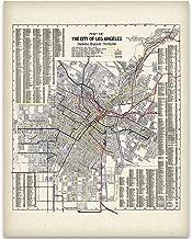 1906 Los Angeles (LA) California Map Art Print - 11x14 Unframed Art Print - Great Vintage Home Decor