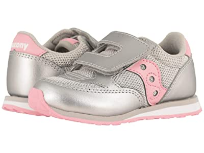 Saucony Kids Originals Jazz Hook Loop (Toddler/Little Kid) (Silver/Metallic) Girls Shoes