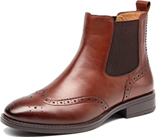Womens Fall Winter Wing-tip Comfortable Brogue Chelsea Ankle Boots Women Short Booties