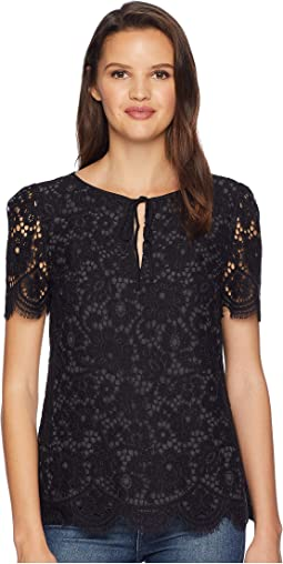 Soft Woven Bucharest Floral Lace Top