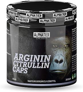 L-CITRULLIN + L-ARGINININ-capsules - 360 capsules hoge dosering + veganistisch - 3000mg Citrulline + Arginine per portie -...