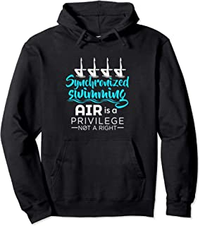 Air Is A Privilege Not A Right - Synchronized Swimming Pullover Hoodie