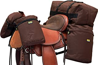 TrailMax Large Overnighter Saddlebags Package with a Set of Saddlebags, a Set of Horn Bags & a Cantle Bag, Available in Black, Brown, Orange, Green & Our Own North Fork Camo