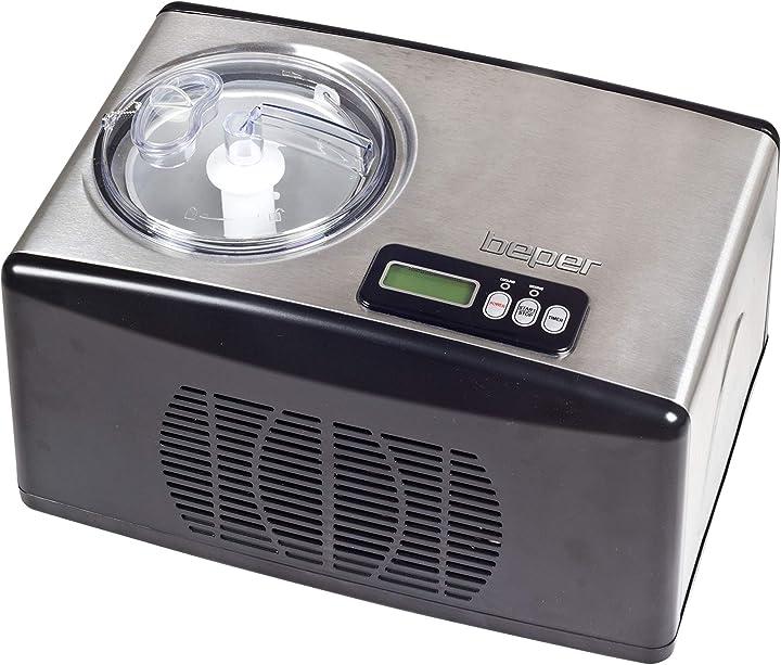 Gelatiera automatica 1.5 litri acciaio beper 70.257 B01CNX6KCI macchina del gelato