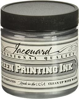 Jacquard JAC-JSI1122 Screen Printing Ink, 4 oz, Silver