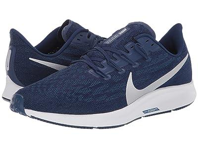 Nike Air Zoom Pegasus 36 (Blue Void/Metallic Silver/Coastal Blue) Men