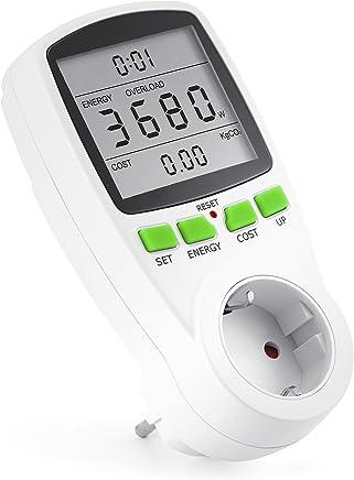 Arendo Energiekostenmessgerät Stromverbrauchszähler, 3680W