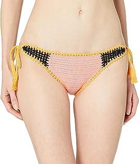 Seafolly Women's Crocket Tie Side Brazilian Coverage Bikini Bottom Swimsuit, Summer Chintz