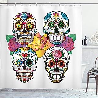 ABAKUHAUS Cráneo del azúcar Cortina de Baño, Colores