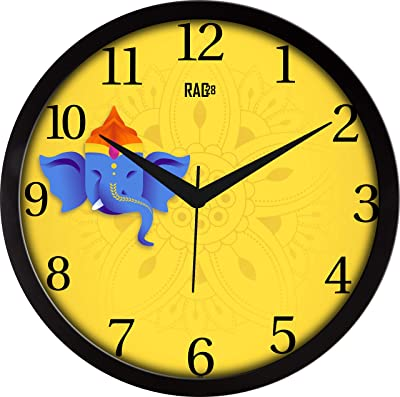 RAG28 Designer Wall Clock (Size: 11.75 Inches, 14606)