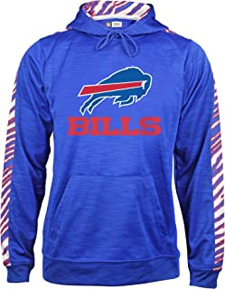 Zubaz Men's Buffalo Bills, Slub Hood, Large