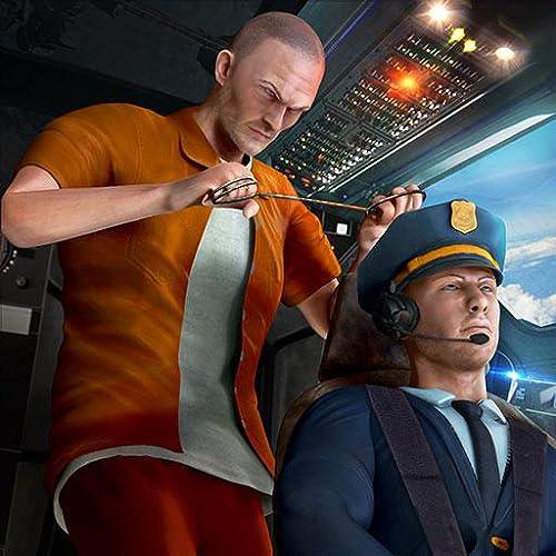 Prisioneiro Avião Hijack Cop Chase Crime Jogos de Gangster: Fuga da Prisão Sobrevivência no Avião Flight Simulator Aventura Missão Livre 3D