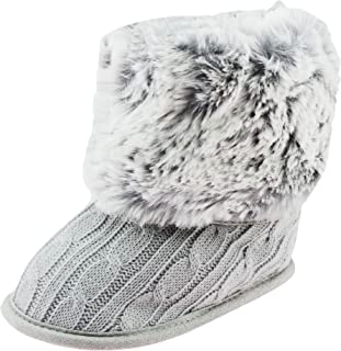 Cable Knit Soft Sole Baby Boots with Faux Fur Tops | Baby Girls Crib Shoes
