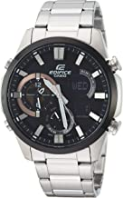 Casio Men's Edifice Quartz Watch with Stainless-Steel Strap, Silver, 11 (Model: ERA-500DB-1ACR)