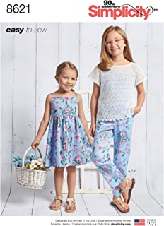 Simplicity Creative Patterns US8621K5 Sewing Pattern, K5 (7-8-10-12-14)