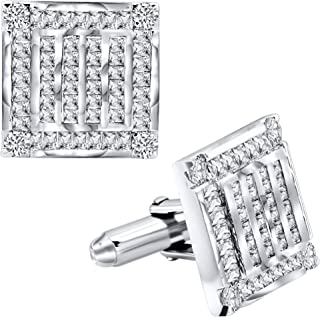 Men's Sterling Silver .925 Square Cufflinks with...