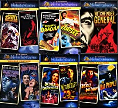Vampires & Witchcraft Midnite 11 Movies DVD Set Witchfinder General / Count Yorga Vampire / The Return of Dracula / The Beast Within / Devils of Darkness - Classic Horror Films