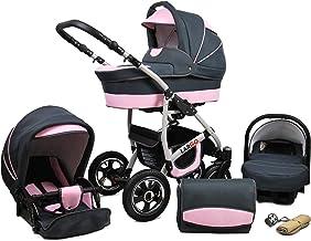 Cochecito de bebe 3 en 1 2 en 1 Trio Isofix silla de paseo New L-GO 2 by SaintBaby Light Pink 3in1 con Silla de coche