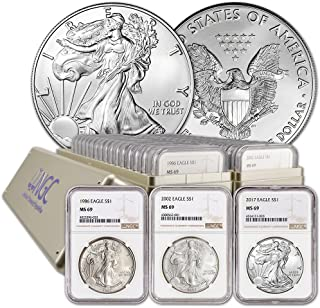 1986-2019 Complete 34 COIN SET SILVER EAGLE SET MS-69