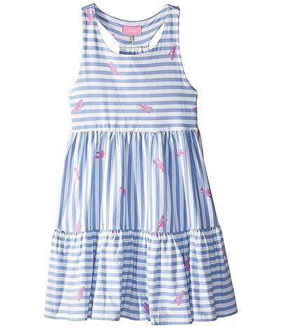 Joules Kids Juno Dress (Toddler/Little Kids/Big Kids) (Blue Lobster Stripe) Girl