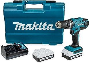 Makita HP457DWE10, Accu-Slagboorschroevendraaierset, Incl. 74-Delig Accessoires, Blauw