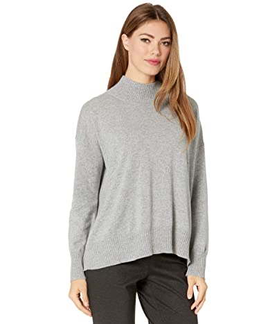 Eileen Fisher Mock Neck Top (Moon) Women