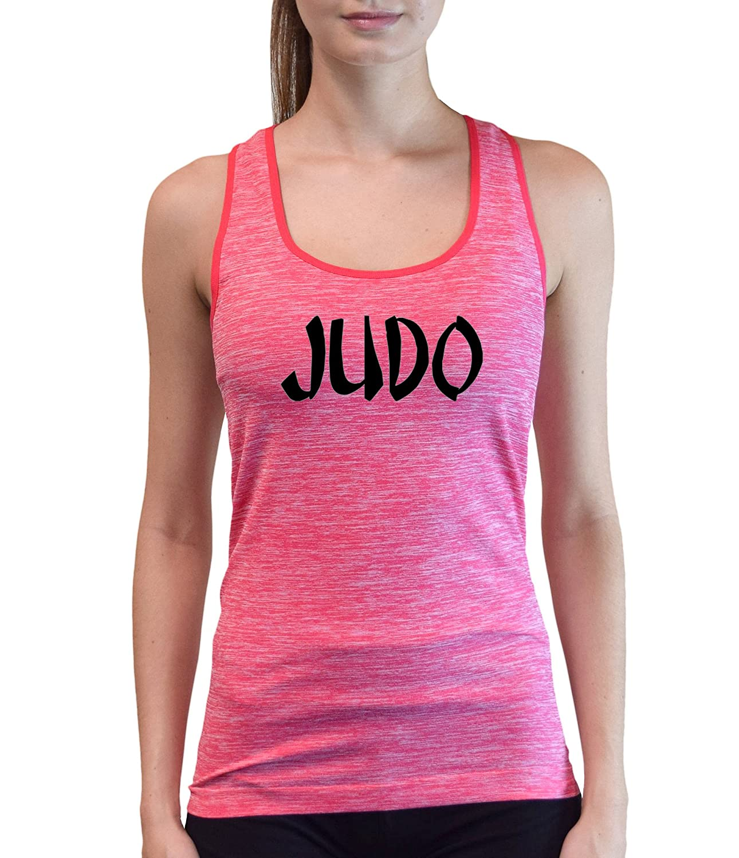 Interstate Apparel Inc Junior's Judo V439 Pink Space Dyed Racerback Tank Top