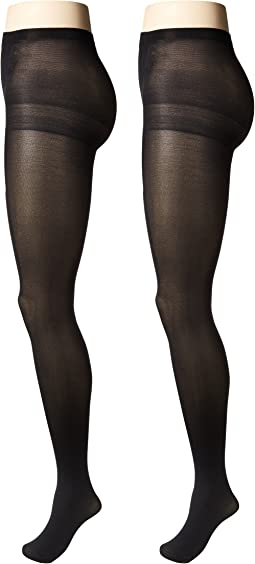 Opaque Tights with Control Top 2-Pair Pack