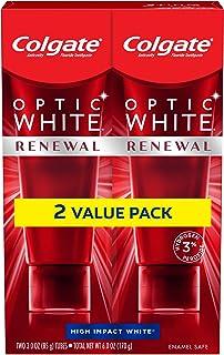 خمیر دندان سفید کننده تجدید کننده Colgate Optic White ، High Impact White - 3 اونس (2 بسته)