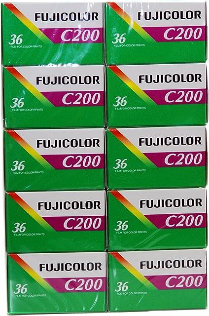 10 rodillos Fuji 35 mm 200/36-Conf.-Protector de 10 piezas-Ruedecilla-fotografía