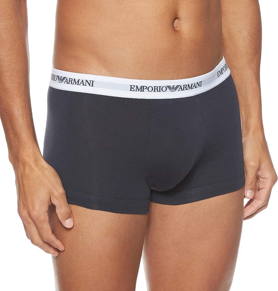 Emporio armani,boxer per uomo,95% cotone, 5% elastan,pacco da 2 paia CC717-11210