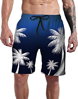 830160bed4 Goodstoworld Men's Cool Swimtrunks Quick Dry 3D Printed Casual Hawaiian  Mesh Lining Beach Board Shorts with