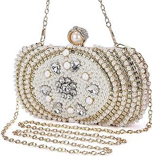 9da3f03f06eea BAIGIO Ladies Evening Clutch Bag Pearl and Bead Sparkly Crystal Diamante  Bridal Purse for Party/