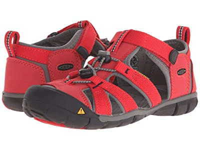 Keen Kids Seacamp II CNX (Little Kid/Big Kid) (Racing Red/Gargoyle) Kids Shoes