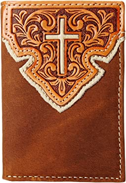 M&F Western Contrast Cross Underlay Tri-Fold Wallet