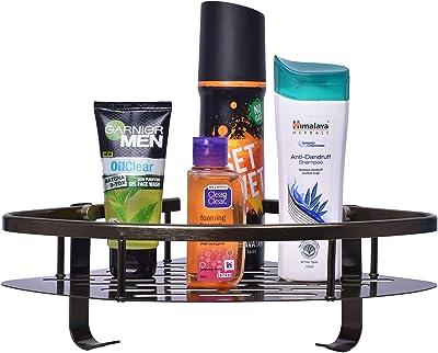 Plantex Space Aluminum Corner/Bathroom Shelf/Kitchen Shelf (9x9) Inches - Glorious Green