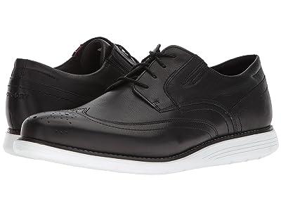 Rockport Total Motion Sports Dress Wing Tip (Black Leather) Men