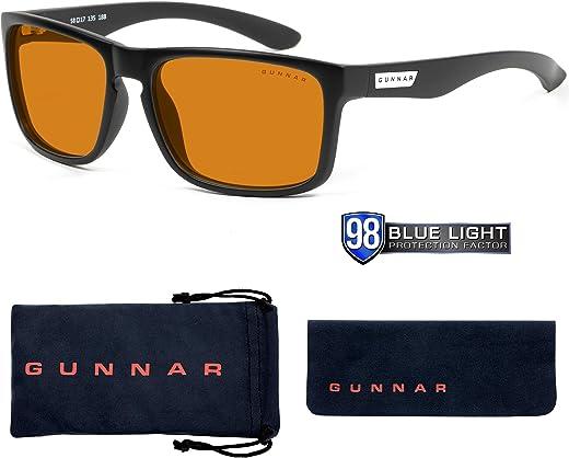 Gaming Glasses   Blue Light Blocking Glasses   Intercept/Onyx by Gunnar   98% Blue Light Protection, 100% UV Light, Anti-Reflective To Protect & Reduce Eye Strain & Dryness