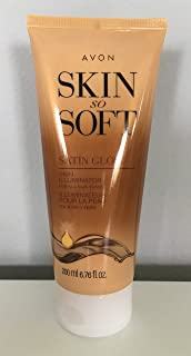 Avon Skin So Soft Satin Glow Skin Illuminator 6.76 Fl Oz