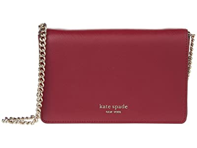 Kate Spade New York Spencer Chain Wallet (Red Currant) Handbags