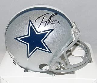 Tony Romo Signed Mini Helmet - Silver - JSA Certified - Autographed NFL Mini Helmets