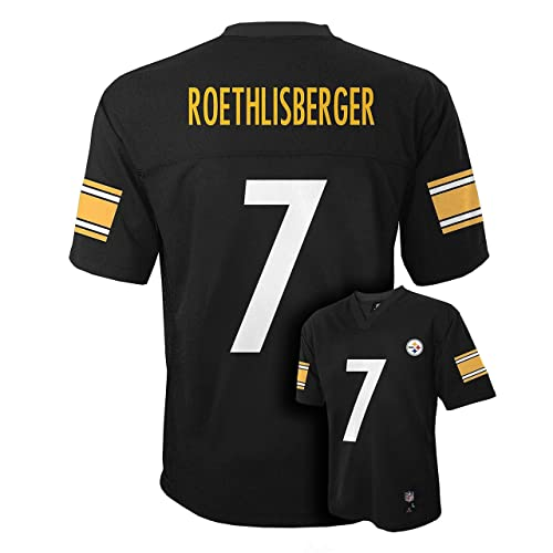 13bbb19e329 Outerstuff Ben Roethlisberger Pittsburgh Steelers  7 Black Kids Mid Tier  Home Jersey