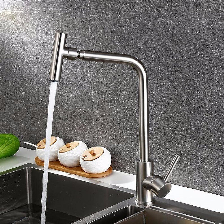 Bijjaladeva Wasserhahn Bad Wasserfall Mischbatterie Waschbecken Waschtisch Armatur für Badezimmer304 Edelstahl Spüle Wasserhahn Warmes und Kaltes mit Einem drehbaren Armaturen
