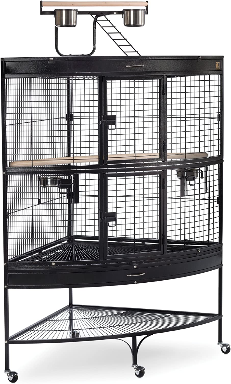 Prevue Pet Products Large Corner Bird Cage 3158BLK Black 45Inch by 30Inch by 69Inch