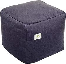 HomeStrap Footrest/Pouffe Filled with Beans - Denim Blue