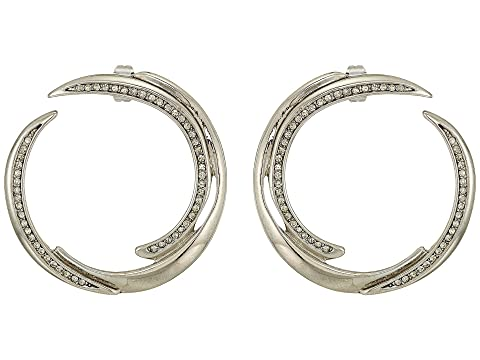 HOUSE OF HARLOW 1960 Wave Statement Earrings, Silver