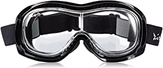 Pacific Coast Airfoil Padded `Fit Over Glasses` Riding Goggles (Black Frame/Clear Lens)