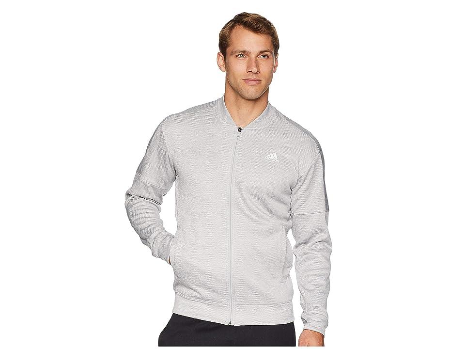 adidas Team Issue Fleece Bomber (Grey Two Melange) Men
