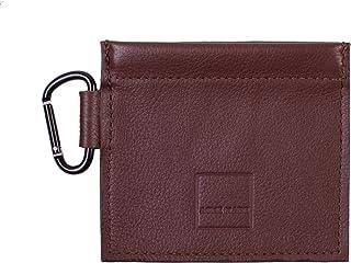 Acme Made Mini bolsa de piel auténtica con resorte, color marrón AM11621