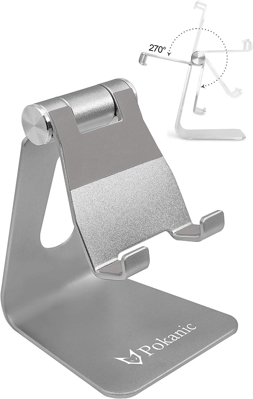 List price Pokanic Max 56% OFF Cell Phone Tablet Stand Adjustable Aluminum Multi-Angle